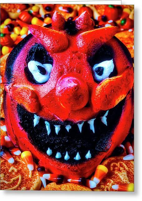 Red Devil Cake Greeting Card