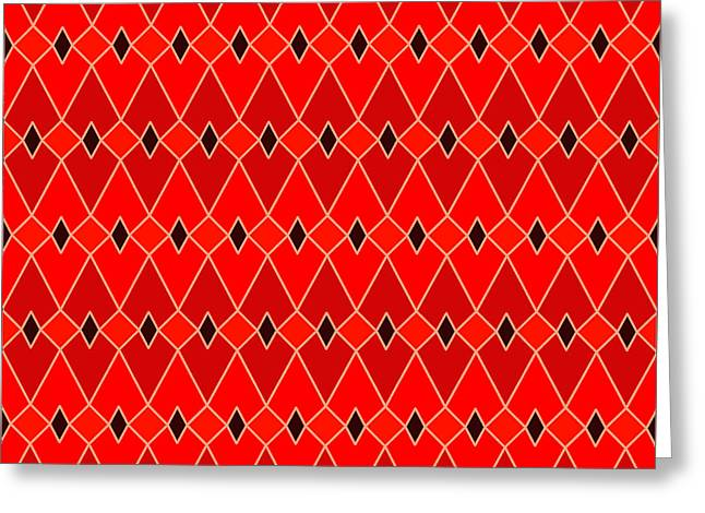 Red Diamonds Greeting Card by Soran Shangapour