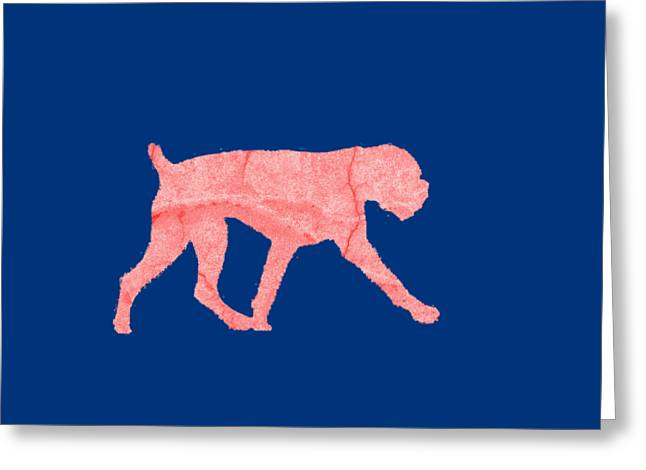 Red Dog Tee Greeting Card