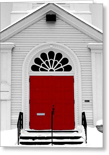 Red Door Greeting Card