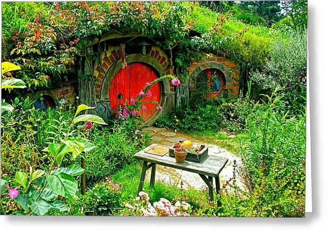 Red Door Hobbit Home Photo Greeting Card