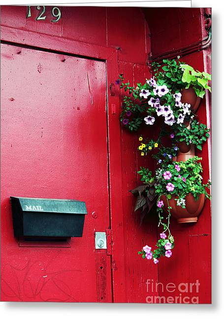 Red Door In Montreal Greeting Card