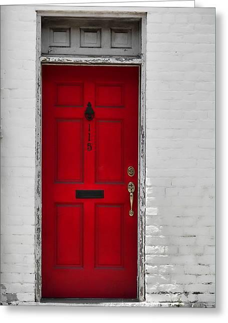 Red Door Greeting Card by JAMART Photography