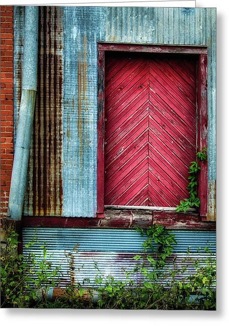 Greeting Card featuring the photograph Red Door by James Barber