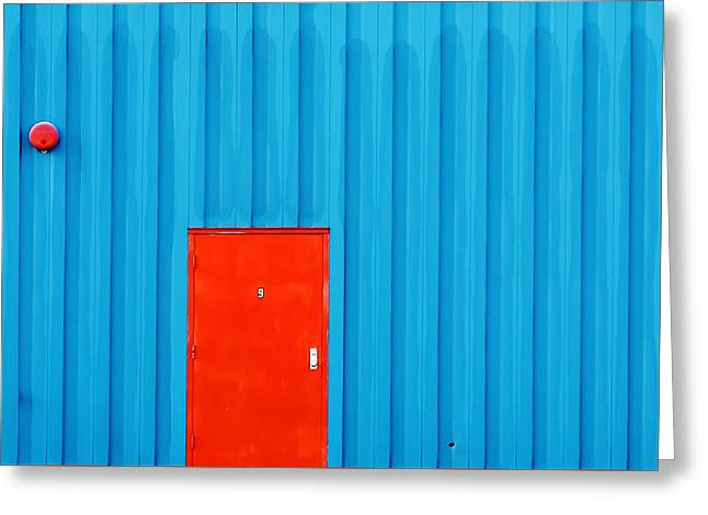 Red Door No. 9 Greeting Card by Todd Klassy