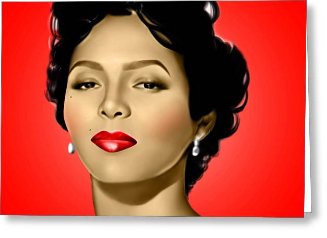Red Dorothy Greeting Card by Davonte Bailey