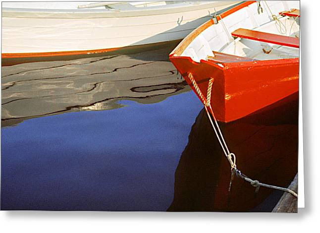 Red Dory Photo Greeting Card by Peter J Sucy