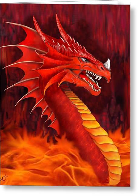 Red Dragon Terrifier Greeting Card