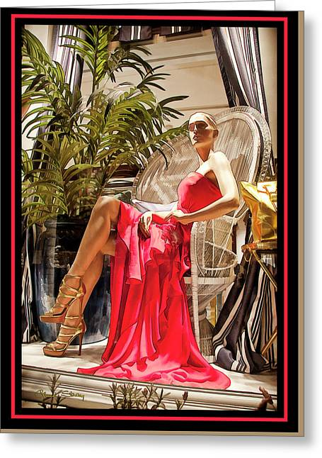 Greeting Card featuring the photograph Red Dress - Chuck Staley by Chuck Staley