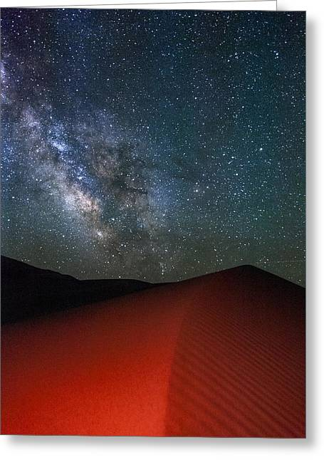 Red Dunes At Night Greeting Card by Cat Connor