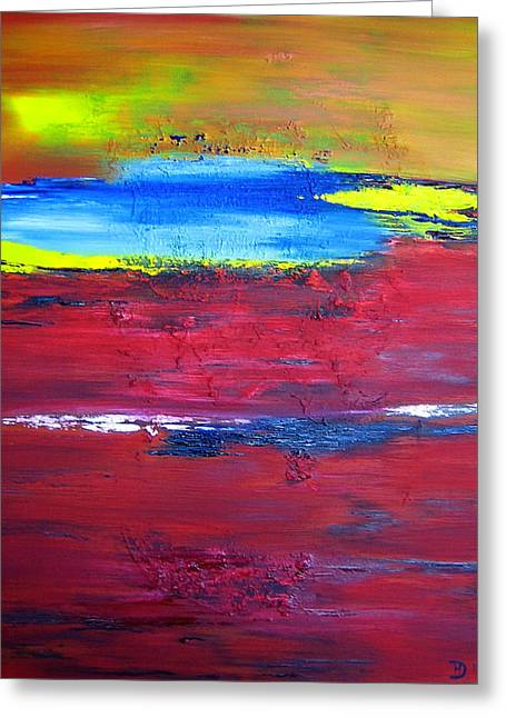 Red Earth Greeting Card by David Hatton
