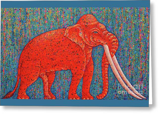Red Elephant  Greeting Card by Opas Chotiphantawanon