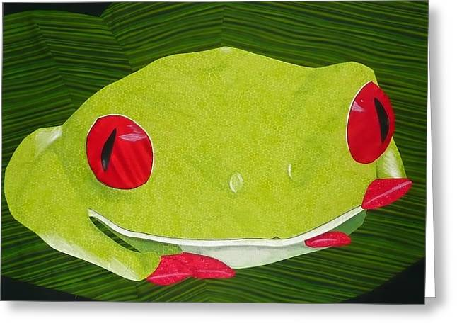 Red Eyed Tree Frog Greeting Card