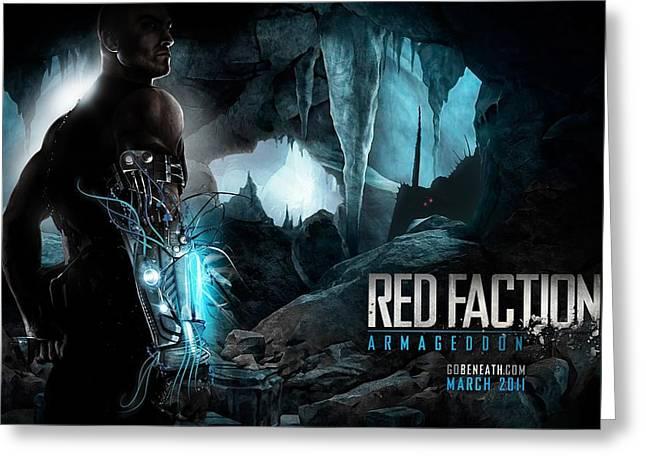 Red Faction Armageddon Game Greeting Card