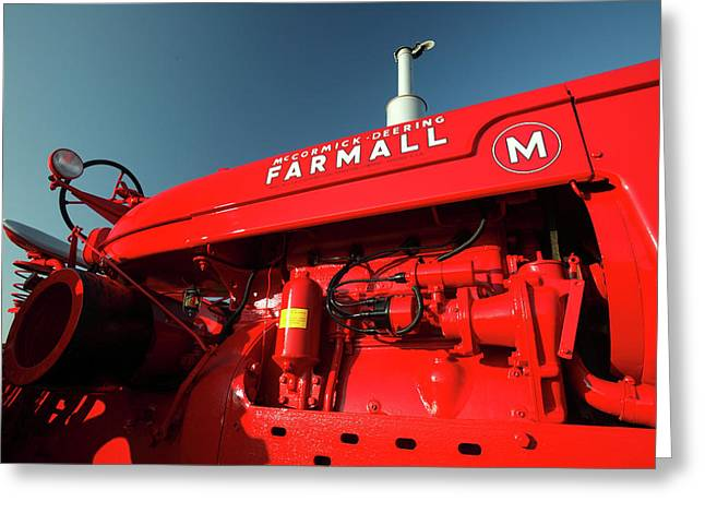 Red Farmall M Greeting Card