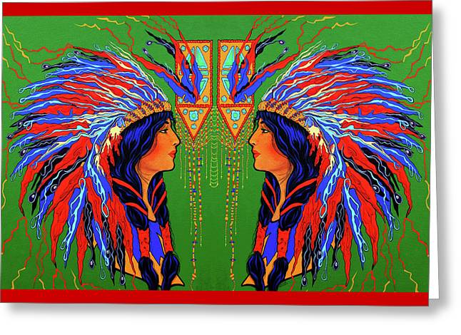 Red Feathers Card Greeting Card