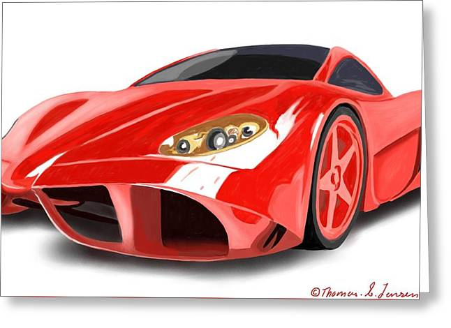 Red Ferrari Greeting Card