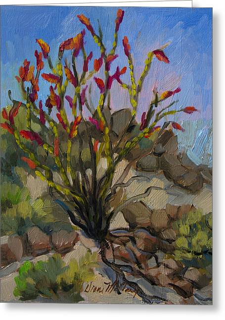 Red Flame Ocotillo 5 Greeting Card