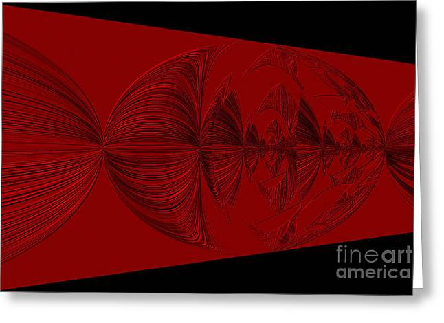 Red And Black Design. Art Greeting Card