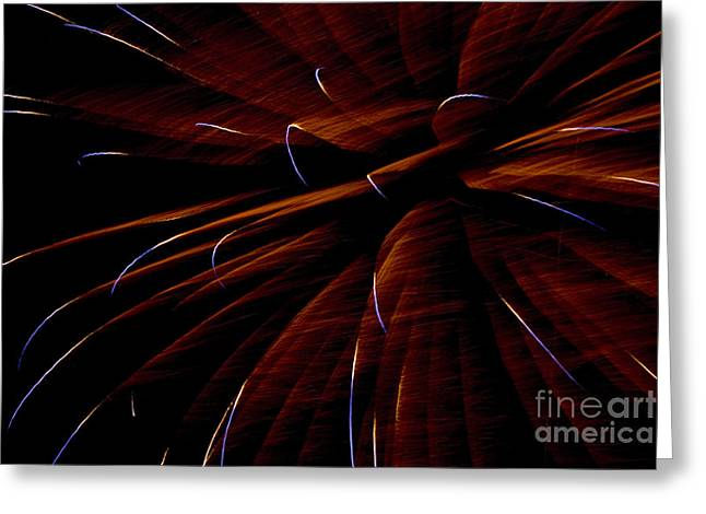 Red Flare Greeting Card by Jeannie Burleson