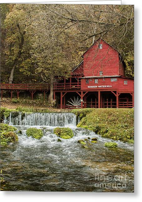 Red Flour Mill Greeting Card by Robert Frederick