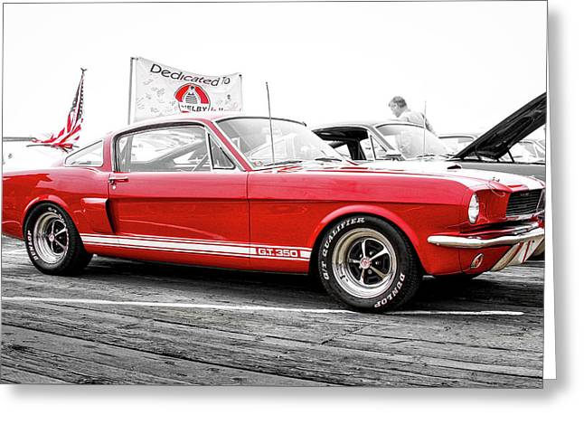 Red Ford Mustang Shelby G T 350 Greeting Card by Gene Parks