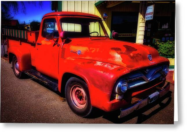Red Ford Pick Up Greeting Card by Garry Gay