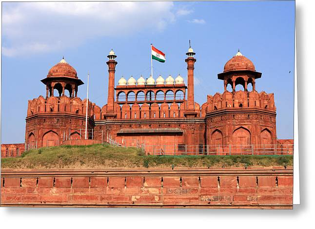Red Fort New Delhi Greeting Card