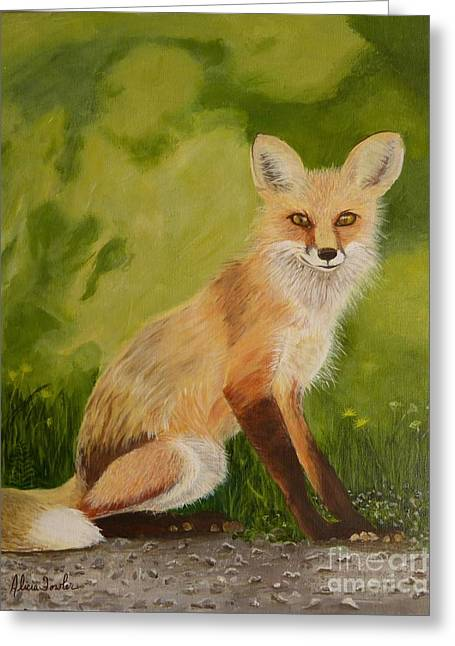 Red Fox 1 Greeting Card