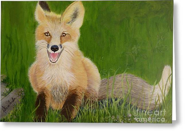 Red Fox 2 Greeting Card
