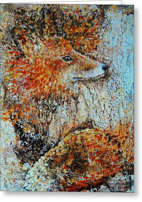 Red Fox Greeting Card by Jean Cormier