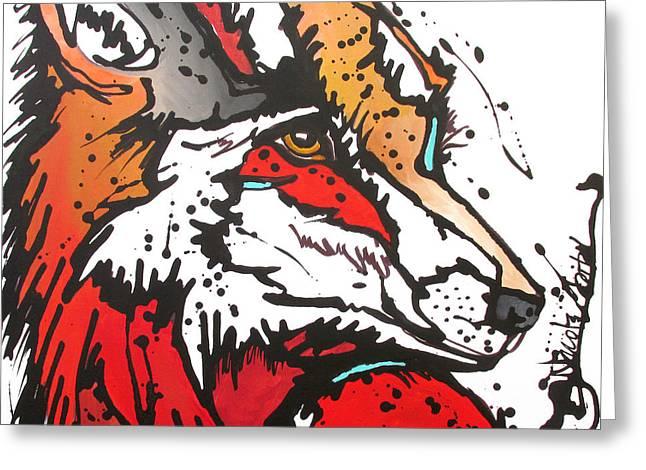 Red Fox Greeting Card by Nicole Gaitan