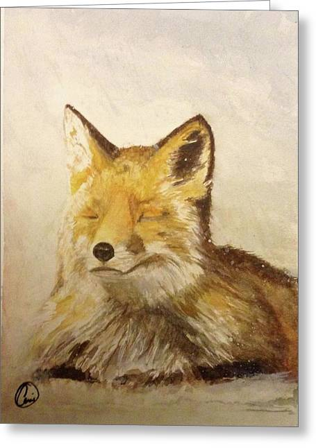 Red Fox Rest Greeting Card