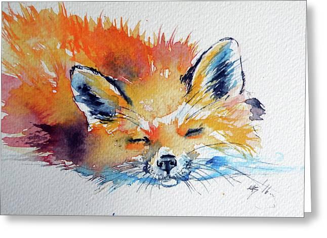 Red Fox Sleeping Greeting Card