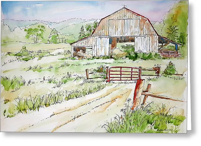 Red Gate Greeting Card