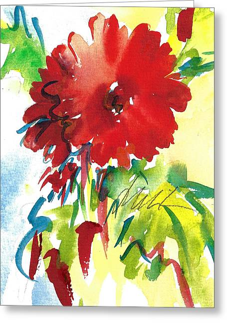 Gerberas Red, White, And Blue Greeting Card