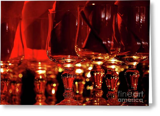 Red Glassart Greeting Card