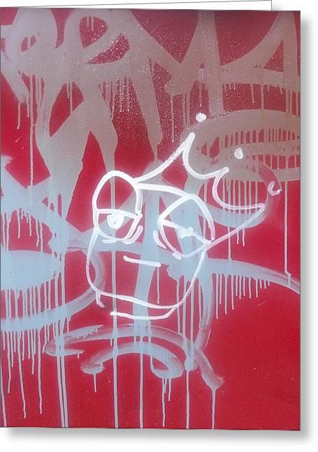 Red Graffiti Greeting Card