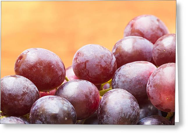Red Grapes Greeting Card by Wim Lanclus