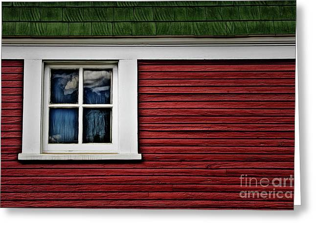 Greeting Card featuring the photograph Red Green by Brad Allen Fine Art