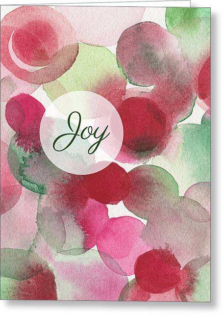 Red Green Fuchsia Chic Holiday Card Greeting Card by Beverly Brown