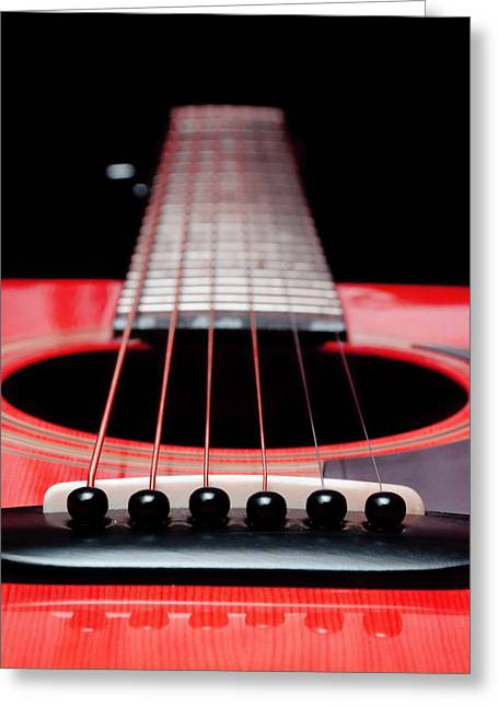 Andee Photography Greeting Cards - Red Guitar 16 Greeting Card by Andee Design