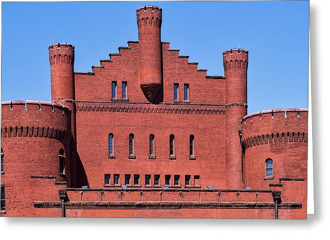 Red Gym - Uw Madison, Wisconsin Greeting Card by Steven Ralser