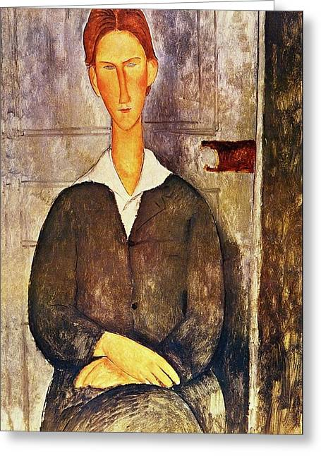 Red Haired Young Man Amedeo Modigliani 1906 Greeting Card by Movie Poster Prints