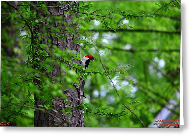Red Headed Beauty Greeting Card