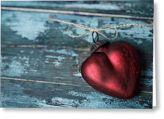 Red Heart Greeting Card by Nailia Schwarz