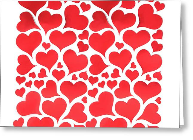 Red Hearts Greeting Card by Art Spectrum
