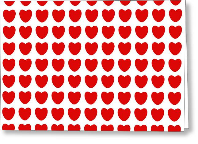 Red Hearts Greeting Card by Daniel Hagerman