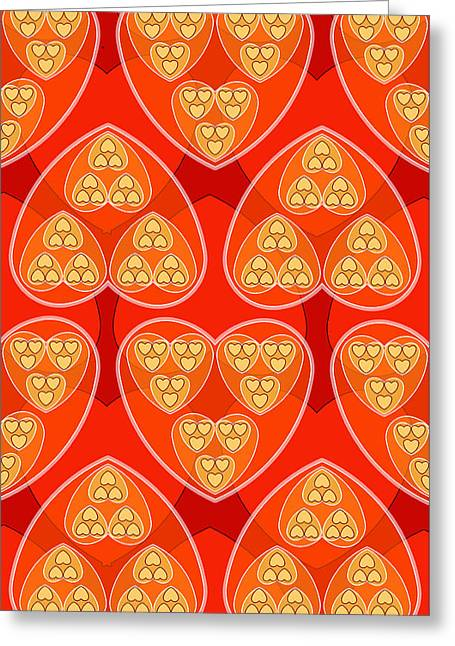 Red Hearts Greeting Card by Soran Shangapour