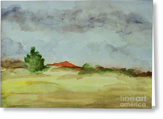 Red Hill Landscape Greeting Card